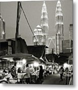 The Night Market Metal Print