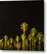 The Night Sky Over Death Valley Metal Print