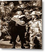 The Night Watch By Rembrandt Metal Print