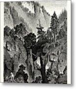 The Nunnery Of Ottilienberg, Alsace. Mont Sainte-odil Metal Print