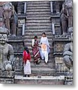 The Nyatapola Temple At Bhaktapur In Nepal Metal Print