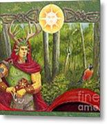 The Oak King Metal Print