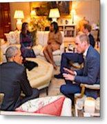 The Obamas Dine At Kensington Palace Metal Print