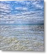 The Ocean And The Pole Metal Print