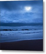 The Ocean Moon Square Metal Print by Bill Wakeley