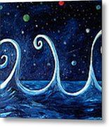 The Ocean, The Moon And The Stars Metal Print