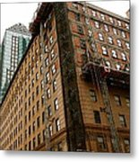 The Old And The New Building Metal Print by Jocelyne Choquette