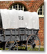 The Old Army Wagon Metal Print