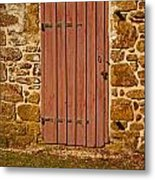 The Old Barn Door Metal Print