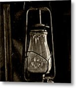 The Old Barn Lantern Metal Print