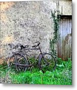 The Old Bike In The Irish Countryside Metal Print