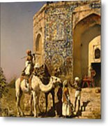 The Old Blue Tiled Mosque - India Metal Print
