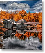 The Old Boat House Metal Print by Bob Orsillo