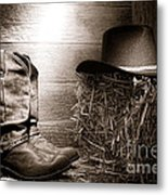 The Old Boots Metal Print