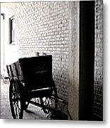 The Old Cart From The Series View Of An Old Railroad Metal Print