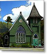 The Old Church In Hanalei Metal Print