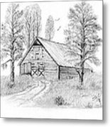 The Old Country Barn Metal Print