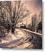 The Old Farm Down The Road Metal Print