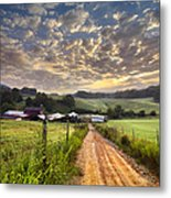 The Old Farm Lane Metal Print by Debra and Dave Vanderlaan