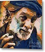 The Old Fisherman Metal Print