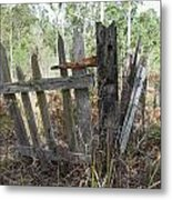 The Old Gate Could Use Some Oil. Metal Print