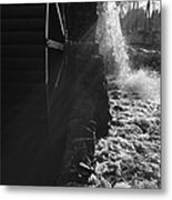 The Old Grist Mill - Black And White Metal Print