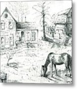 The Old Horse Farm Metal Print