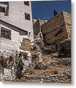 The Old Houses Of Ronda. Andalusia. Spain Metal Print