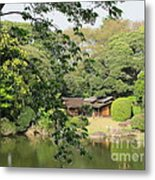 the old Japanese House by the water Metal Print
