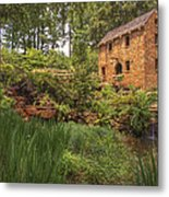 The Old Mill And Pond Metal Print