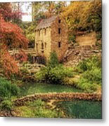 The Old Mill In Autumn - Arkansas - North Little Rock Metal Print