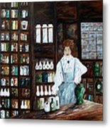 The Old Pharmacy ... Medicine In The Making Metal Print
