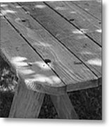 The Old Picnic Table Metal Print