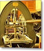 The Old Printing Press Metal Print