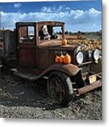 The Old Pumpkin Patch Metal Print