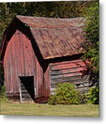 The Old Red Barn Metal Print