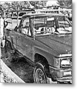 The Old Retro Truck Metal Print