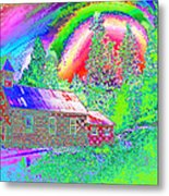 The Old Schoolhouse Library Again Metal Print