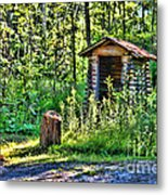 The Old Shed Metal Print by Cathy  Beharriell