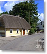The Old Thatched Cottage Metal Print