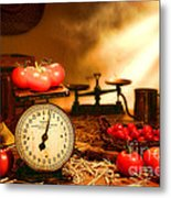 The Old Tomato Farm Stand Metal Print by Olivier Le Queinec