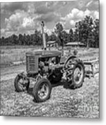 The Old Tractor Metal Print