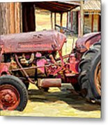 The Old Tractor Metal Print by Michael Pickett