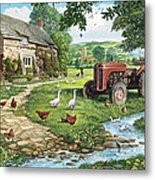 The Old Tractor Metal Print by Steve Crisp