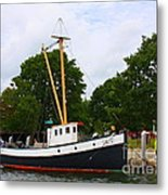 The Old Tugboat At Mystic Metal Print