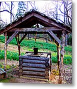 The Old Water Well Metal Print