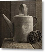 The Old Watering Can Metal Print