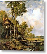The Old Windmill Near Barbizon Metal Print