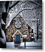 The Olde Stone Church Metal Print