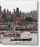 The Olympic Torch Leaves Hampton Court On The Final Leg Of Its J Metal Print
